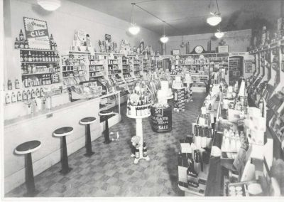 Hi-School Pharmacy Main Street Soda Fountain 1940's